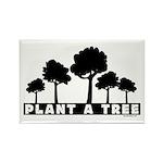 Plant Tree Rectangle Magnet