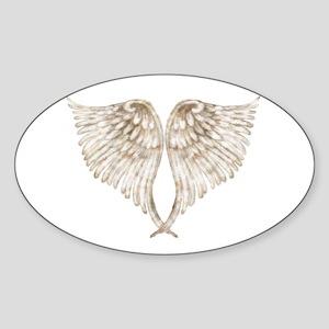 Golden Angel Sticker (Oval)