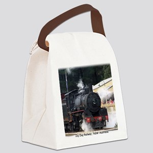 Zig Zag Steam Loco 1072 9J53D-14 Canvas Lunch Bag