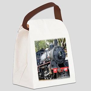 Zig Zag Railway Steam Locomotive  Canvas Lunch Bag