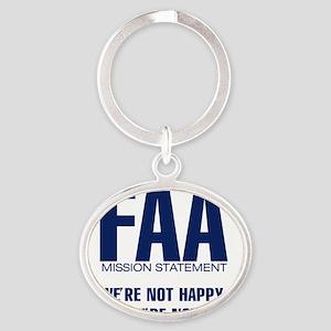 FAA-MissionStatement Oval Keychain