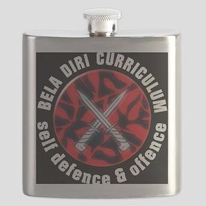 Self Defence Logo - black tshirt Flask