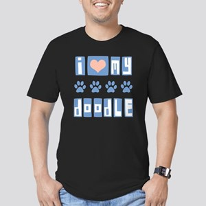 I-Love-My-Doodle-Box-F Men's Fitted T-Shirt (dark)
