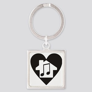 House02 Square Keychain