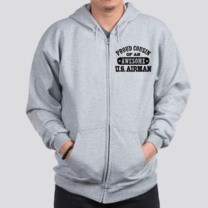 Proud Cousin of an Awesome US Airman Zip Hoodie