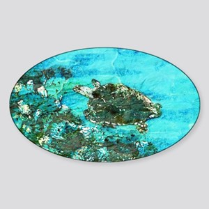 Sea Turtle 1 Sticker (Oval)