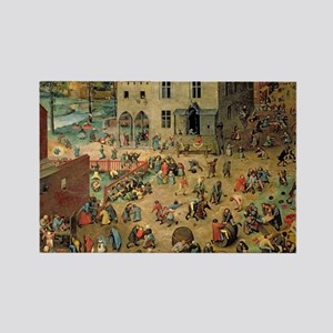 Bruegel Childrens Games Rectangle Magnet