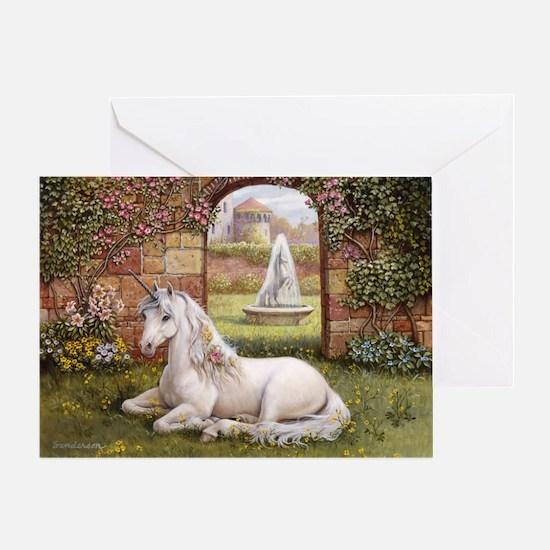 Unicorn Garden Greeting Card