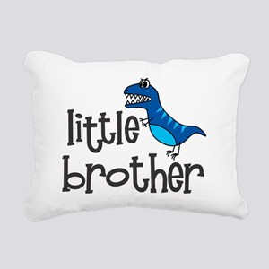 little brother dino mean Rectangular Canvas Pillow
