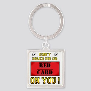 red card_edited-7 Square Keychain