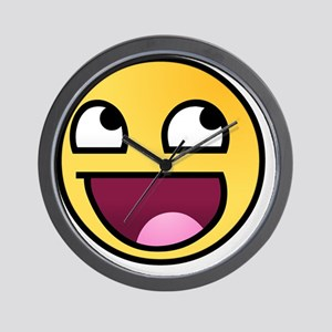 awesome-smiley Wall Clock