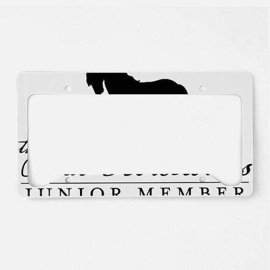 junior-blk-maverick License Plate Holder