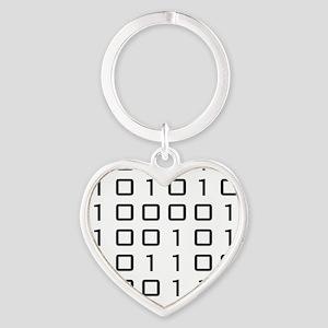 binarycodeBLACK Heart Keychain