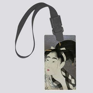 Woman-Wiping-her-face-Utamaro-Wo Large Luggage Tag