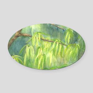 ylang_ylang-watercolor Oval Car Magnet
