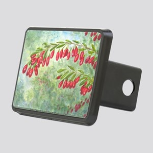 wolfberry watercolor Rectangular Hitch Cover