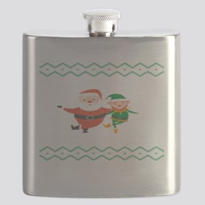 When I Think Of You I Touch My Elf Ugly Chri Flask