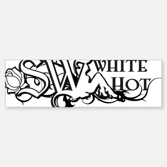 Sasha_White_Logo Sticker (Bumper)