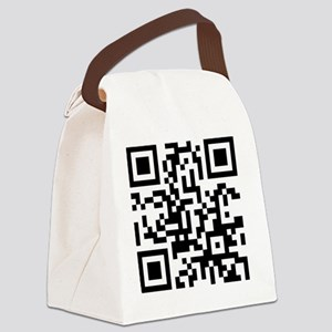 Input Beer Holder Here Canvas Lunch Bag