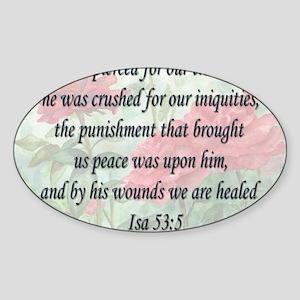 healing verse Sticker (Oval)