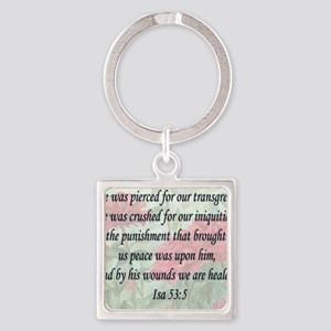 healing verse Square Keychain