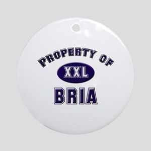 Property of bria Ornament (Round)