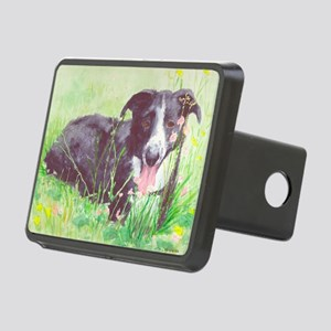 My Stock dog light green Rectangular Hitch Cover