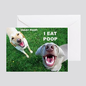 Funny animal greeting cards cafepress dogspoop greeting card m4hsunfo