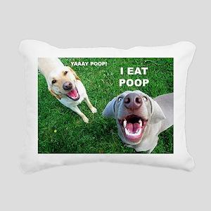 Dogspoop Rectangular Canvas Pillow