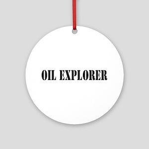 Oil Explorer Ornament (Round)