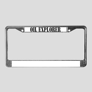 Oil Explorer License Plate Frame
