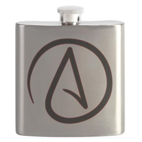 AtheistSymbolRound Flask