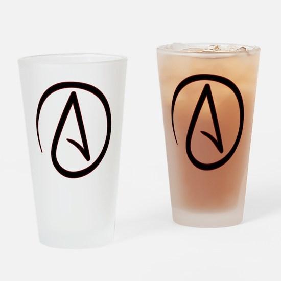 AtheistSymbolRound Drinking Glass