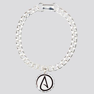 Atheistsymbolround Charm Bracelet One