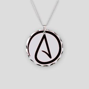 AtheistSymbolRound Necklace Circle Charm