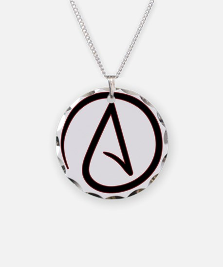 Atheist necklaces atheist dog tags necklace charmspendants atheistsymbolround necklace aloadofball Gallery