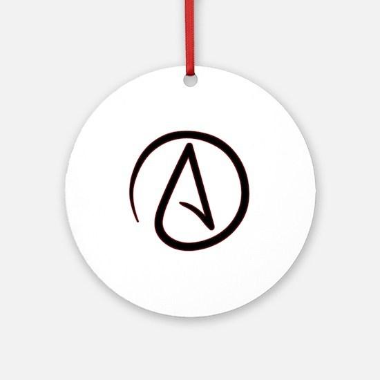 AtheistSymbolRound Round Ornament