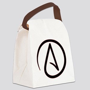 AtheistSymbolRound Canvas Lunch Bag