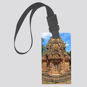 Banteay Srei temple tower Large Luggage Tag