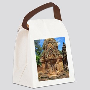 Banteay Srei temple tower Canvas Lunch Bag