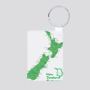 nzmap_back Aluminum Photo Keychain
