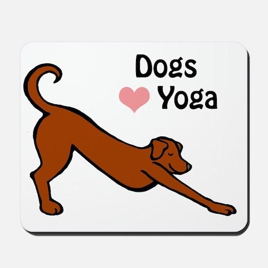 Dogs love yoga copy.gif Mousepad