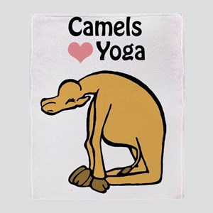 Camels love yoga copy Throw Blanket