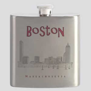 Boston_10x10_Skyline_BlackRed Flask