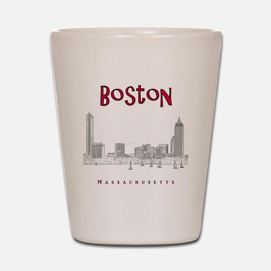 Boston_10x10_Skyline_BlackRed Shot Glass