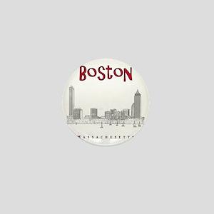 Boston_10x10_Skyline_BlackRed Mini Button
