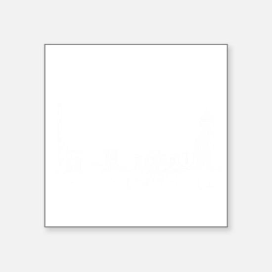 "Boston_10x10_Skyline_White Square Sticker 3"" x 3"""