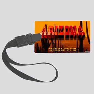 LicPlate-Arizona-DesertSunset Large Luggage Tag