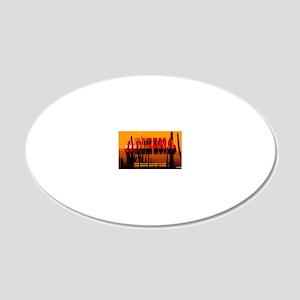 LicPlate-Arizona-DesertSunse 20x12 Oval Wall Decal