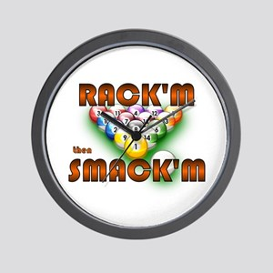 'Rack'm then Smack'm'  Wall Clock